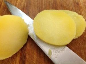 Kartoffel in Scheiben