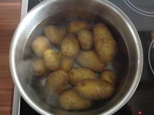 Kartoffel in der Schale gekocht